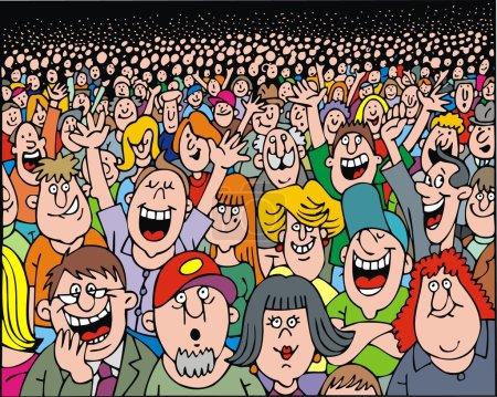 Illustration pour Beaucoup de gens sur la partie comme fond agréable - image libre de droit