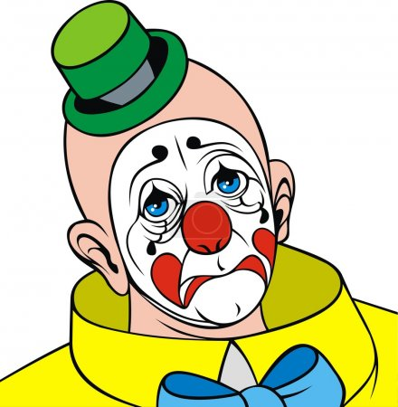 Illustration for Head of clown isolated on the white background - Royalty Free Image