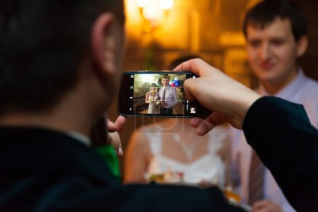 Wedding photography on smartphone