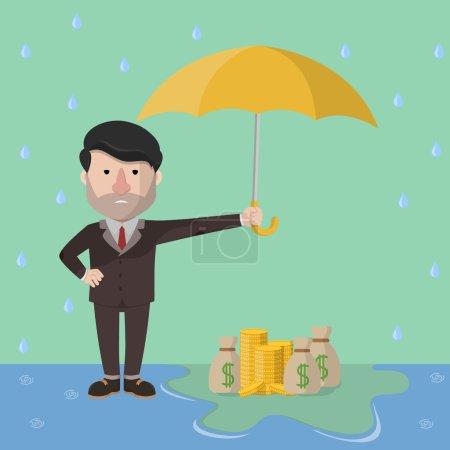 Illustration pour Actifs des hommes d'affaires protégeant l'illustration vectorielle .eps 10 - image libre de droit