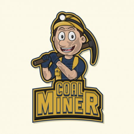Coal miner logo illustration design...