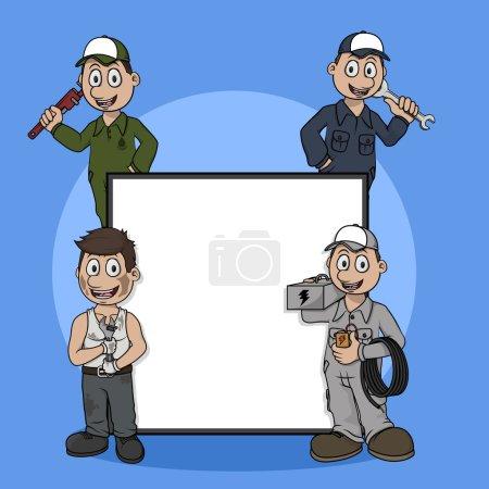 Illustration pour Technicien profession signe illustration design - image libre de droit
