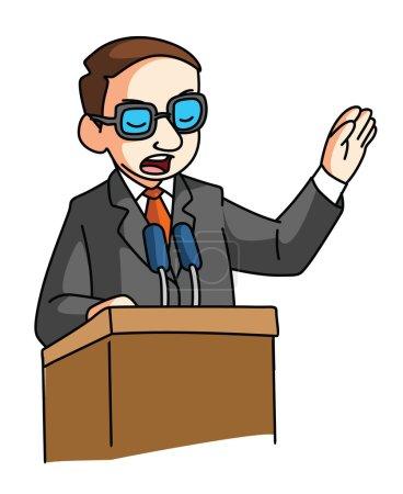 Speaker man gesturing