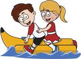 children banana boat