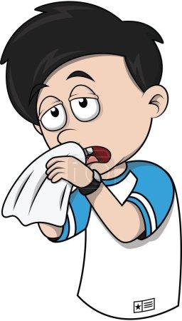 Child Sneezing illustration