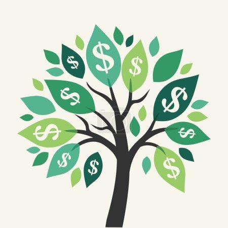 Vector money tree - symbol of successful business...