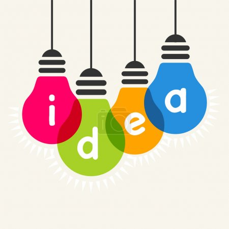 Illustration for Light bulb idea vector illustration - Royalty Free Image