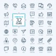 Outline web icons set - Contact us...