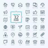 Szerkezeti web ikonok beállítása - kapcsolat