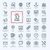 Outline web icons set - SEO