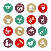 Pití alkoholu - webových sada ikon