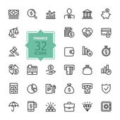 Outline web icons - money finance payments