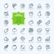 Thin lines pictogram collection- Fruit and Vegetab...