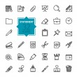 Thin lines icon collection...