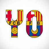 Letters with barcelonas logo