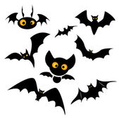 Halloween bat clip art illustration isolated on a white background Can be placed on your design or costume