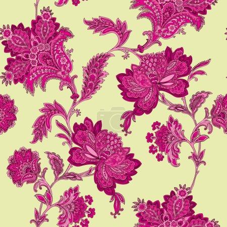 Seamless peonies pattern