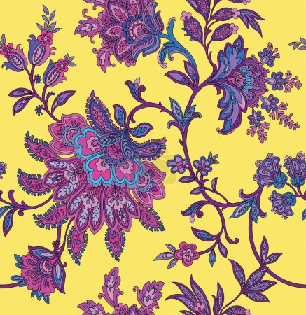 Illustration for Floral seamless summer pattern - Royalty Free Image