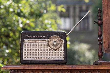 Photo for Old transistor radio receiver sold at flea market in Slovenia - Royalty Free Image