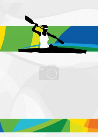 Kayak sport background