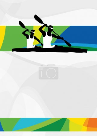 Kayak sport background