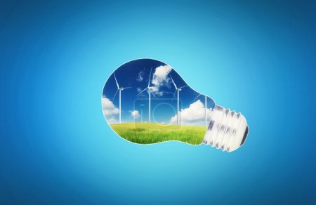Wind power station in lamp