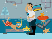 Leaky plumbing emergency