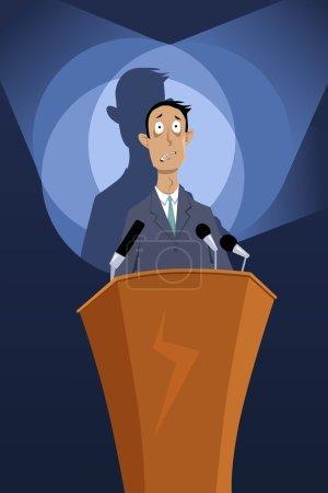 Speech anxiety illustration