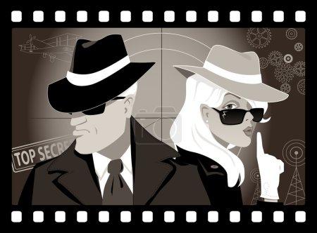 Retro mystery movie