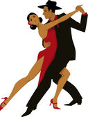 Hispanic couple dancing tango vector illustration no transparencies