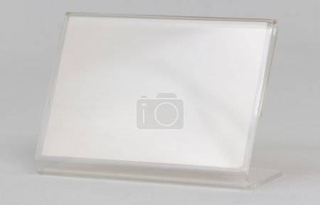 Photo for Acrylic card holder object with white background. - Royalty Free Image