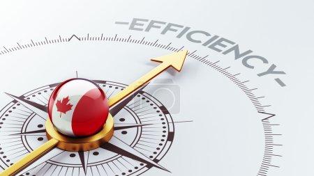 Canada Efficiency Concept