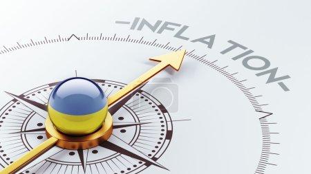 Ukraine Inflation Concep