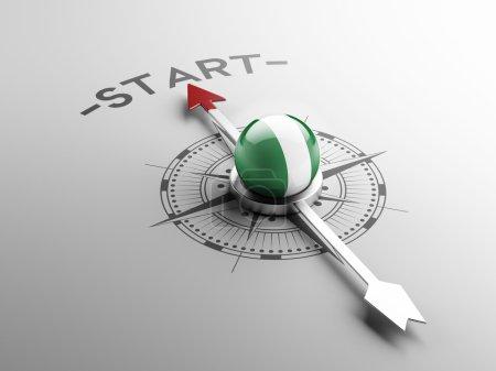 Nigeria Start Concept