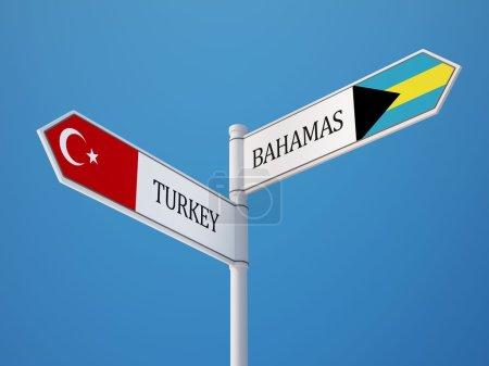 Turkey Bahamas High Resolution Sign Flags Concept...
