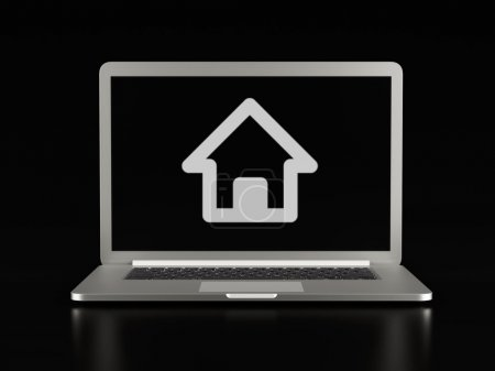 Laptop Home Icon