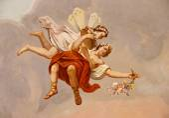 """Постер, картина, фотообои """"фреска ангела"""""""