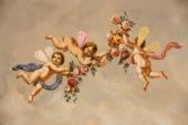 """Постер, картина, фотообои """"ангелы с розами"""""""
