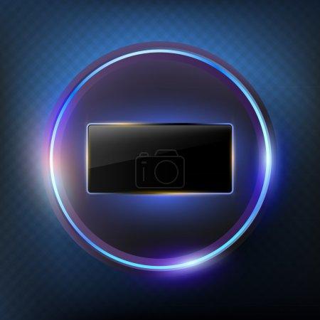 Photo pour Fond abstrait composé d'une boule de lumière et d'un écran noir - image libre de droit