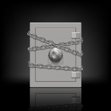 Safe wrapped metal chain