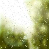 Esőcseppek az ablakon