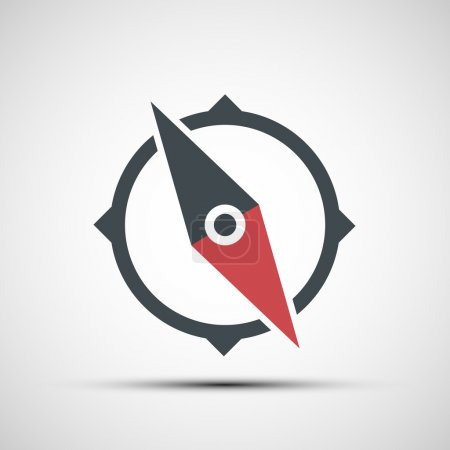Illustration for Vector compass icon - Royalty Free Image