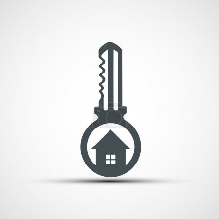 Vector icons key with a house