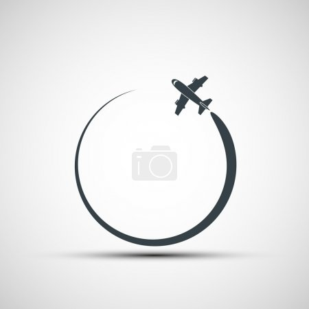 Illustration for Vector icons aircraft - Royalty Free Image
