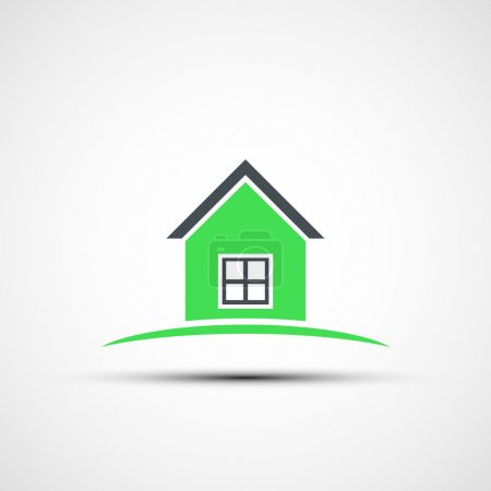 Vector icon of real estate