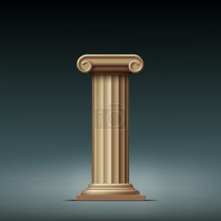 Antique beige column.