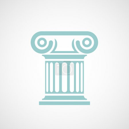 Logo marble columns.