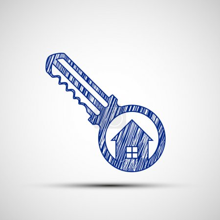 Logo key from door.