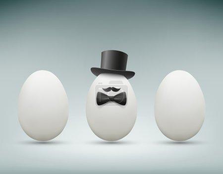 Chicken egg. Stock illustration.