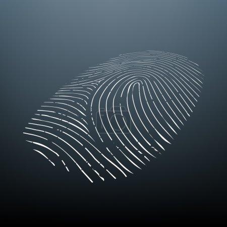 Imprint a human finger. Biometric data. Vector Ima...